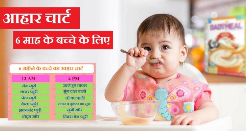 6 महीने के बच्चे का आहार चार्ट