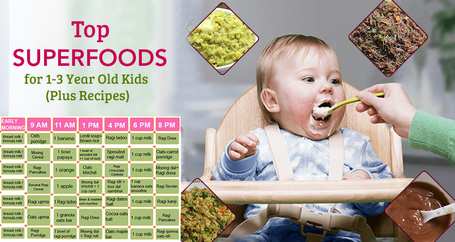 10 superfoods for 1 3 year old kids plus recipes