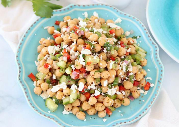 weight loss chick pea salad