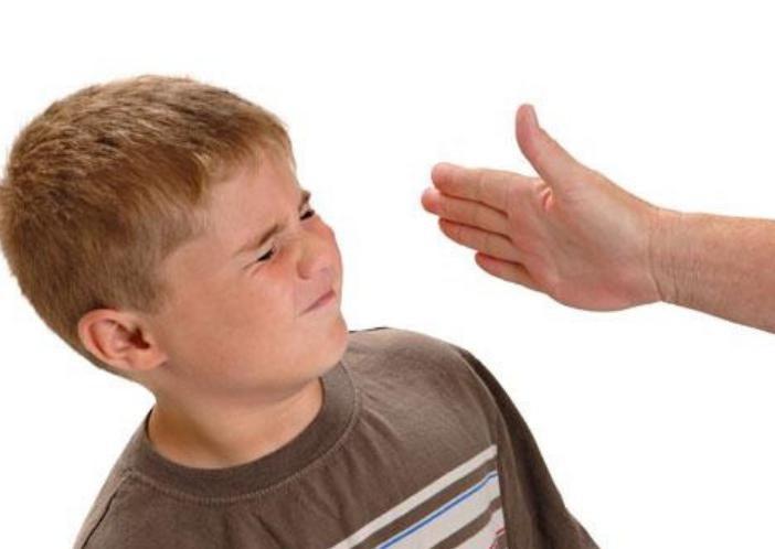 slapping a kid