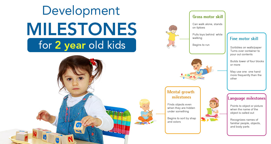 Development Milestones for 2 year old kids